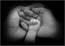 Confortar las manos Fotos de archivo libres de regalías