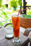 Conforto do frio do chá gelado Foto de Stock