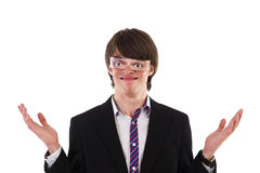 Confounded young man Royalty Free Stock Photography