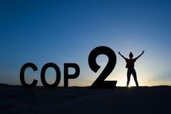Conférence 2015 de changement climatique de Paris Photo libre de droits