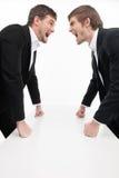 Confrontação de Men?. Imagem de Stock
