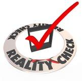 Confrontación con la realidad Mark Box Realistic Potential Possibility Imagen de archivo