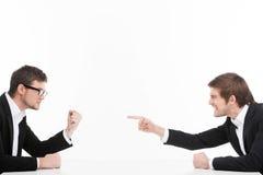 Confrontación de Men?. Fotografía de archivo