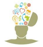 Confrontare le idee Immagine Stock