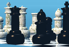 Confrontatie royalty-vrije illustratie