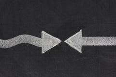 Confrontatie of het concept van aangezicht tot aangezicht stock afbeelding