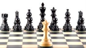Confrontatie. Schaak. Royalty-vrije Stock Foto's