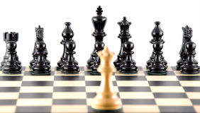Confrontation. Chess. Royalty Free Stock Photos