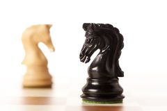 Confrontation - chess game Royalty Free Stock Photography