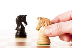 Confrontation - chess game Stock Images