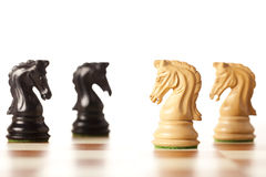 Confrontation - chess game Royalty Free Stock Photos
