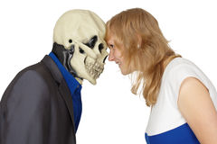 Confrontation of death and people Royalty Free Stock Image