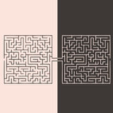Confrontation labyrinths. The idea of opposition opinions. Vector illustration Stock Image