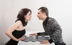 Confrontation between man and woman, concept Royalty Free Stock Image