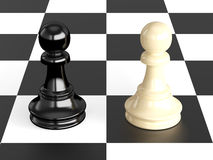 Confrontation of Pawns Royalty Free Stock Images