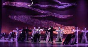 "The confrontation between reason and desire-Huang Mingliang`s dance""No shelter"". Huang Mingliang`s dance""No shelter"",Young dancers royalty free stock photos"