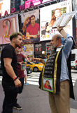 Confrontation with a Religious Preacher in Times Square, NYC, NY, USA Royalty Free Stock Photo