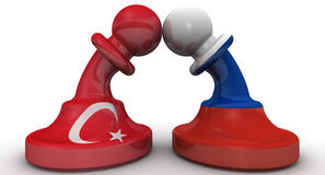 The confrontation between the Russian Federation and Turkey. The concept Royalty Free Stock Photo