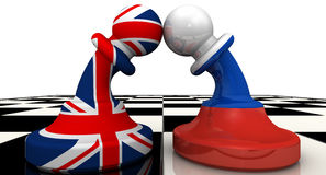 The confrontation between the Russian Federation and United Kingdom. The concept Royalty Free Stock Image