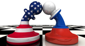 The confrontation between the Russian Federation and the United States of America. The concept Royalty Free Stock Photo