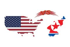 The confrontation between the United States of America and North Korea. The confrontation between the United States of America and North Korea Stock Images