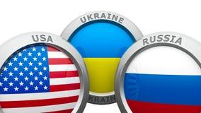 Confrontation USA UA RU Royalty Free Stock Images
