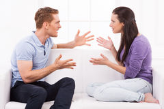 Confrontational couple. Stock Photography