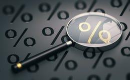 Confronti i migliori tassi di interesse ipotecario, confronto di credito al consumo Fotografia Stock Libera da Diritti
