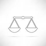 Confronti semplicemente il profilo dell'icona Immagini Stock Libere da Diritti
