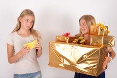 Confronto del regalo Immagini Stock