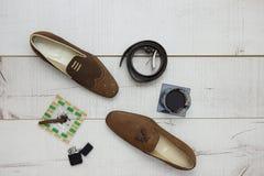Confronto delle scarpe Fotografie Stock