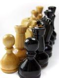 Confronto di scacchi Fotografia Stock