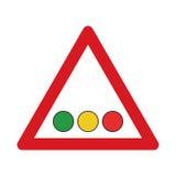 Confronto su traffico lights_1 Fotografia Stock Libera da Diritti