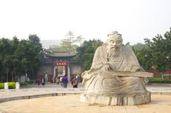 Confucian statue Royalty Free Stock Photo