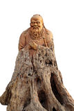Confucius woodcarving like. Confucianism represented by Confucius culture will be further to the world, and more and more countries in the world, it is Stock Image