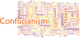 Confucianism word cloud Stock Images