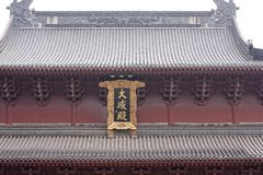 Roof of the hall-Confucious`temple in Nanchang. Confucious`temple, memorial and worship in China is the greatest thinker, statesman and educator Confucius temple royalty free stock images