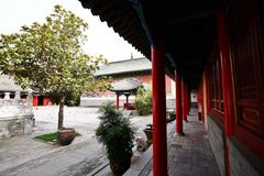 Confucious'temple in Zhengzhou. Was the oldest and most extensive and largest ancient architectural complex in Zhengzhou. According to the chronicles of stock image