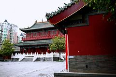 Confucious& x27;temple in Zhengzhou. Was the oldest and most extensive and largest ancient architectural complex in Zhengzhou. According to the chronicles of stock photos