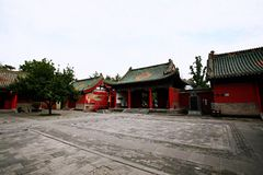 Confucious'temple in Zhengzhou. Was the oldest and most extensive and largest ancient architectural complex in Zhengzhou. According to the chronicles of stock photo