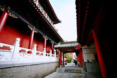 Confucious'temple in Zhengzhou. Was the oldest and most extensive and largest ancient architectural complex in Zhengzhou. According to the chronicles of royalty free stock images