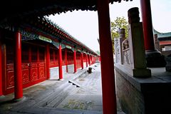 Confucious'temple in Zhengzhou. Was the oldest and most extensive and largest ancient architectural complex in Zhengzhou. According to the chronicles of stock photos