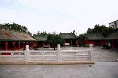 Confucious'temple in Zhengzhou. Was the oldest and most extensive and largest ancient architectural complex in Zhengzhou. According to the chronicles of royalty free stock photography