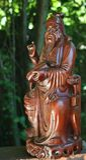 Confucius evening light Stock Images