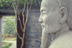 Confucius rzeźba Obraz Royalty Free