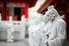 Confucius Shrine. Sculptures at Confucius Shrine in Nagasaki, Japan. The shrine is said to be the world's only Confucian shrine built outside China by Chinese royalty free stock photography