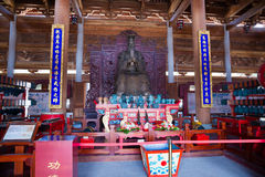 Confucius statue in Confucian temple Royalty Free Stock Images