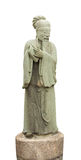Confucius statue isolated white background. Photo stock photography
