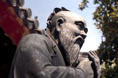 Confucius Statue Shanghai Royalty Free Stock Photography