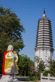 Confucius statue and the Stupa Stock Image